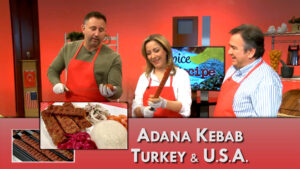 Adana Kebab and Urfa Pepper prepared for Spice and Recipe by Neslihan and Zafer Bulduk