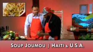 Soup Joumou, pikliz of Haiti prepared in the studio by Wilson Calixte