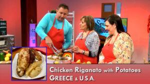 Chicken Riganato with Oregano prepared by Demetra Sakkas and Dina Sakkas-Mulkey for Spice and Recipe with Mike DiGiacomo